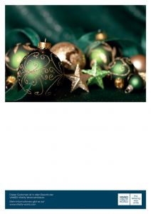 Voucher with Christmas motif green